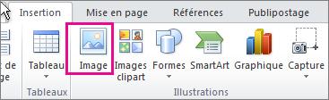 Insérer une image dans Office2010
