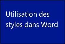 Utilisation des styles dans Word