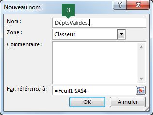Tapez un nom pour vos entrées de liste déroulante dans Excel