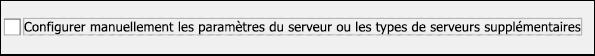 Choisissez Configuration manuelle pour votre courrier Yahoo