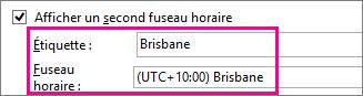 Fuseau horaire de Brisbane