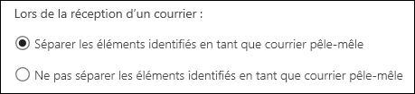 Courrier pêle-mêle dans Outlook sur le web