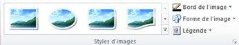 Groupe Styles d'images de l'onglet Outils Image dans Publisher2010