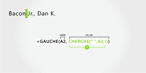Formule pour séparer un nom et un suffixe en premier, par une virgule