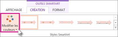 Modifier les couleurs de votre chronologie