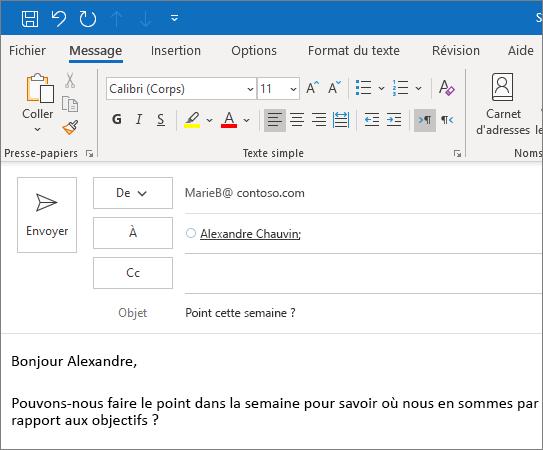 Créer et envoyer un courrier électronique