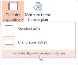 Cliquer sur Taille de diapositive personnalisée