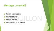 Exemples du texte en filigrane «BROUILLON» utilisé en tant qu'arrière-plan d'une diapositive PowerPoint