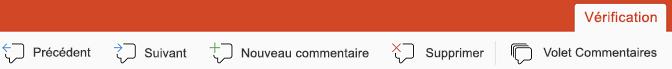 Les boutons de commentaire dans PowerPoint pour iPad