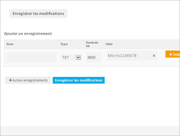 Valeurs Freenom TXT pour verification_C3_2017530133639