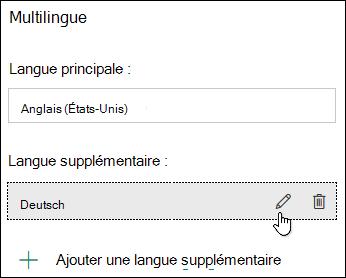 Modifier une langue à l'aide de la fonctionnalité multilingue dans Microsoft Forms