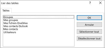 Liste de filtres prédéfinis