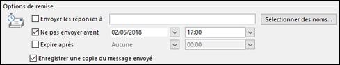 Définir une date et une heure pour diffuser votre message.