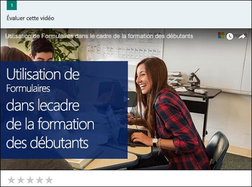 Insérer la zone de la vidéo YouTube pour Microsoft Forms