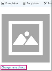 Télécharger la boîte de dialogue photo avec «Téléchargement photo» mis en surbrillance