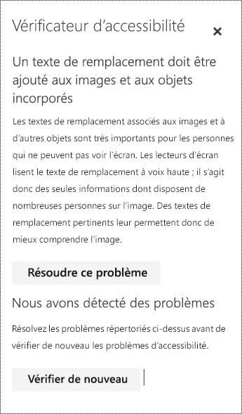 Rechercher les problèmes d'accessibilité présentés par un courrier dans Outlook sur le web.