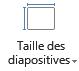 Icône Taille des diapositives