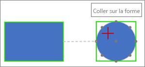 Se connecter à la forme cible avec une connexion dynamique