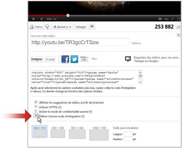 Créer un lien vers une vidéo sur YouTube