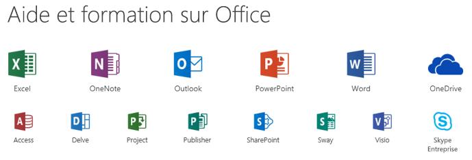 Options de support pour Microsoft Office