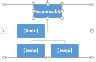 Saisie de texte dans une zone d'un graphique SmartArt