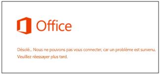 Problème de connexion à votre compte Microsoft