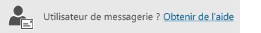 Bouton permettant d'obtenir de l'aide pour les utilisateurs de courrier
