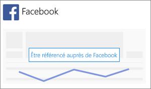 Capture d'écran: Cliquez ou appuyez sur Référencer mon entreprise sur Facebook pour commencer