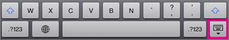 Appuyer sur la touche Clavier en bas à droite pour masquer le clavier