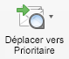 Bouton Déplacer vers Prioritaire