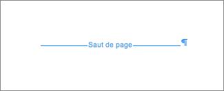 Exemple de saut de page