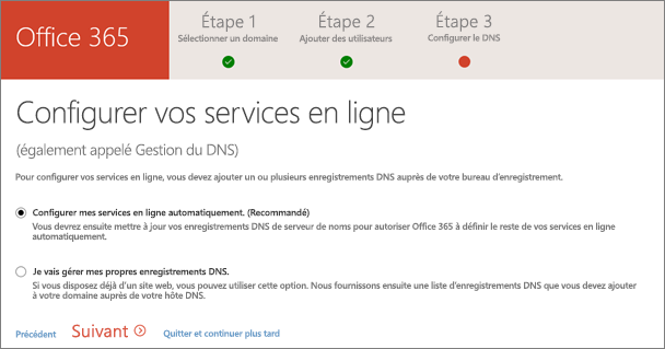 Configurer les services en ligne