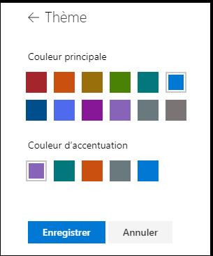 Personnaliser les couleurs du thème de votre site SharePoint