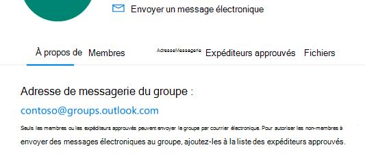 Ajouter des expéditeurs approuvés à un groupe Outlook.com.