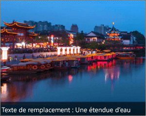 Image avec un texte de alt généré automatiquement sur le bord inférieur de l'image dans Word pour Windows.