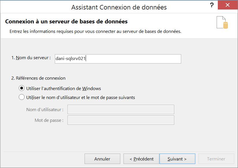 Connexion à un serveur de base de données