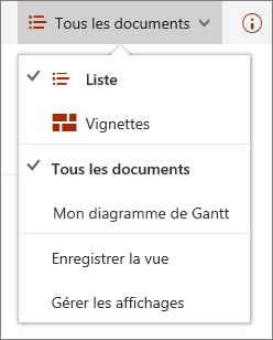 Menu affichages dans Microsoft Edge