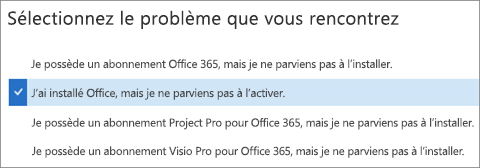 Affiche l'option d'activation d'Office dans l'Assistant Support et récupération
