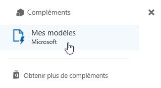 Sélectionnez la macro complémentaire Mes modèles