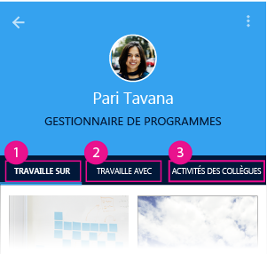 Page Contacts de Delve pour Android