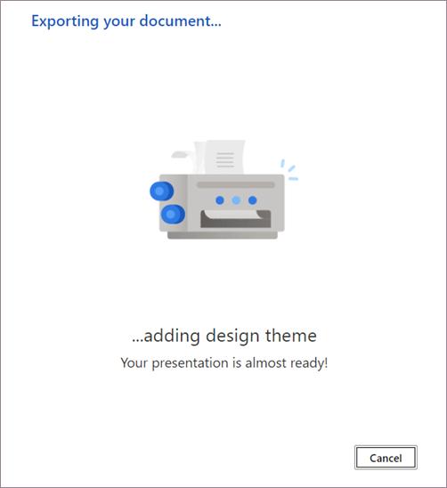 Conversion d'un document en présentation