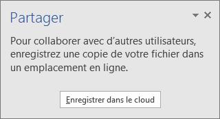 Image de la commande Enregistrer dans le cloud