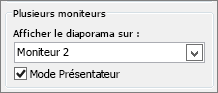 Options de moniteur PowerPoint 2010