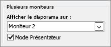 Options de moniteur PowerPoint2010