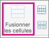 Sous l'onglet Disposition, sélectionnez Fusionner les cellules
