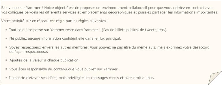 Exemple de stratégie Yammer