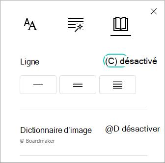 Activer/désactiver ligne Focus menu