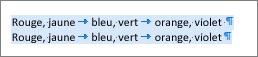 Exemple de texte source prêt à être converti en tableau