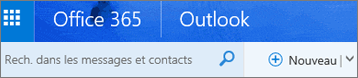 Ruban Outlook sur le web