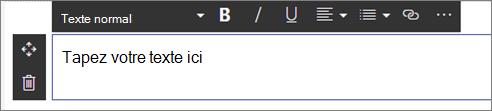 Composant WebPart texte